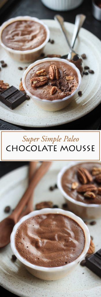 Super simple gluten-free, refined sugar free, paleo chocolate mousse recipe...This is your new chocolate fix!