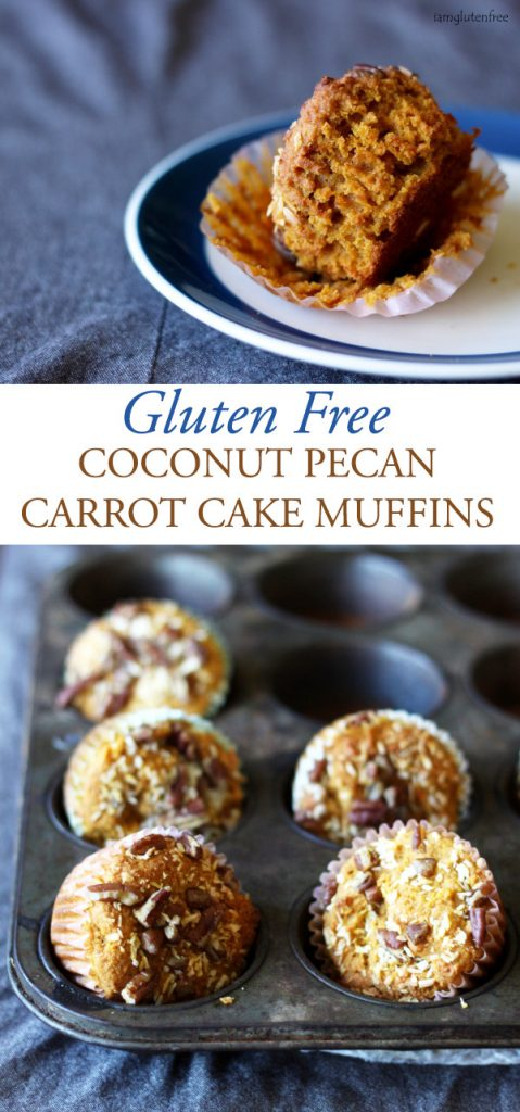 Gluten Free Coconut Pecan Carrot Cake Muffins