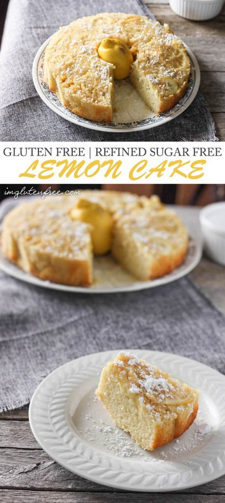 Gluten free and refined sugar free lemon cake!