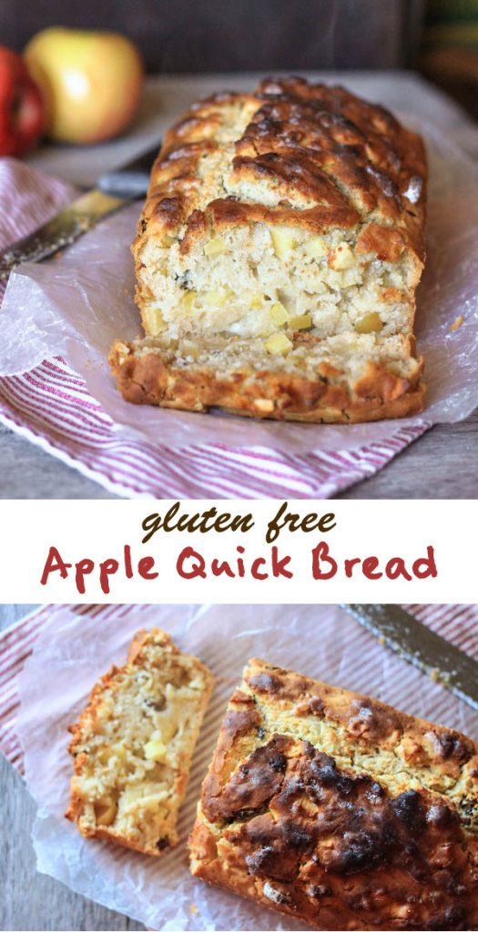 Gluten free apple quick bread recipe