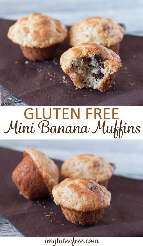 Gluten free mini banana muffins