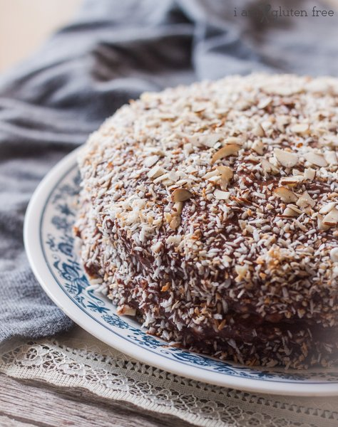 Sweet, fluffy, and flavorful gluten free coconut cake!