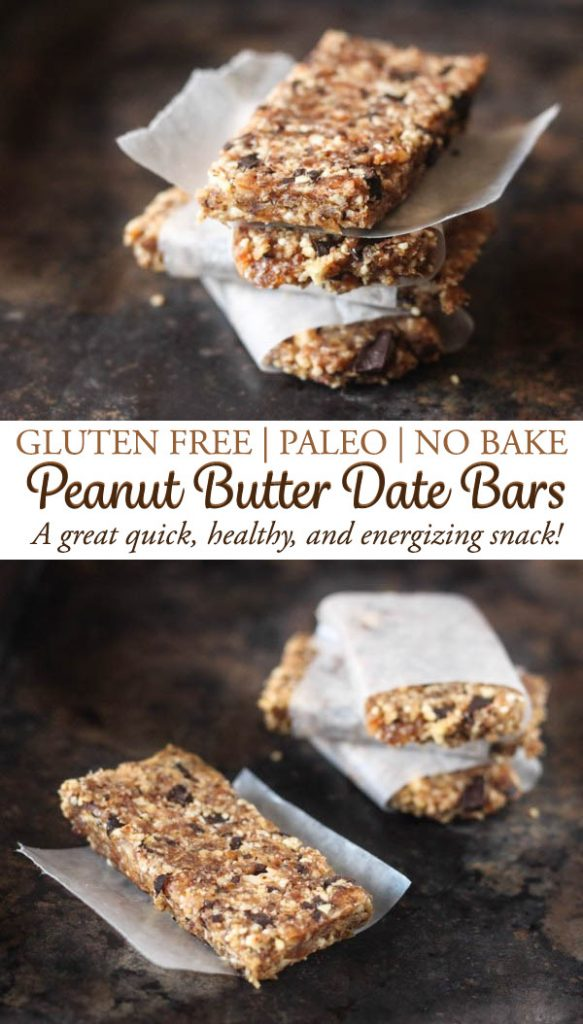 Peanut butter no bake date bars