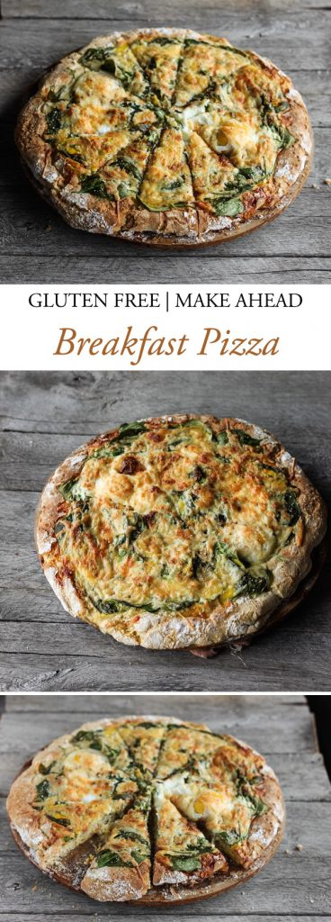 Easy gluten free make ahead breakfast pizza!