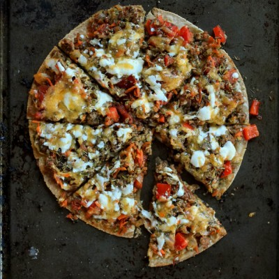 Quick Lunch: Tortilla Pizza