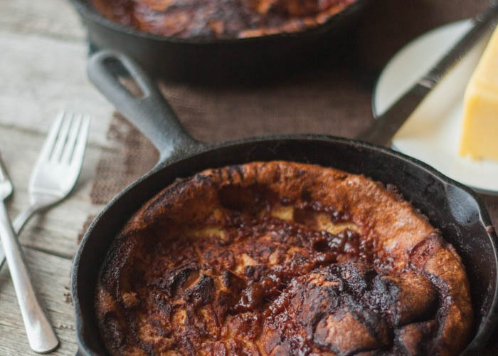 Cinnamon Roll Dutch Baby Pancake