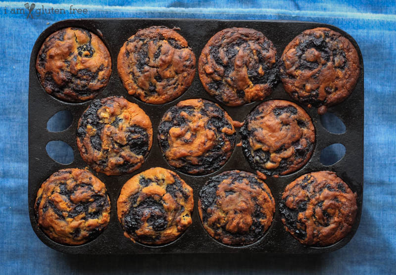 Gluten Free Blueberry Swirl Muffins (2 of 19)