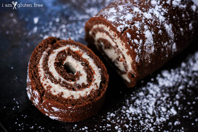 Gluten free and paleo friendly chocolate roulade recipe