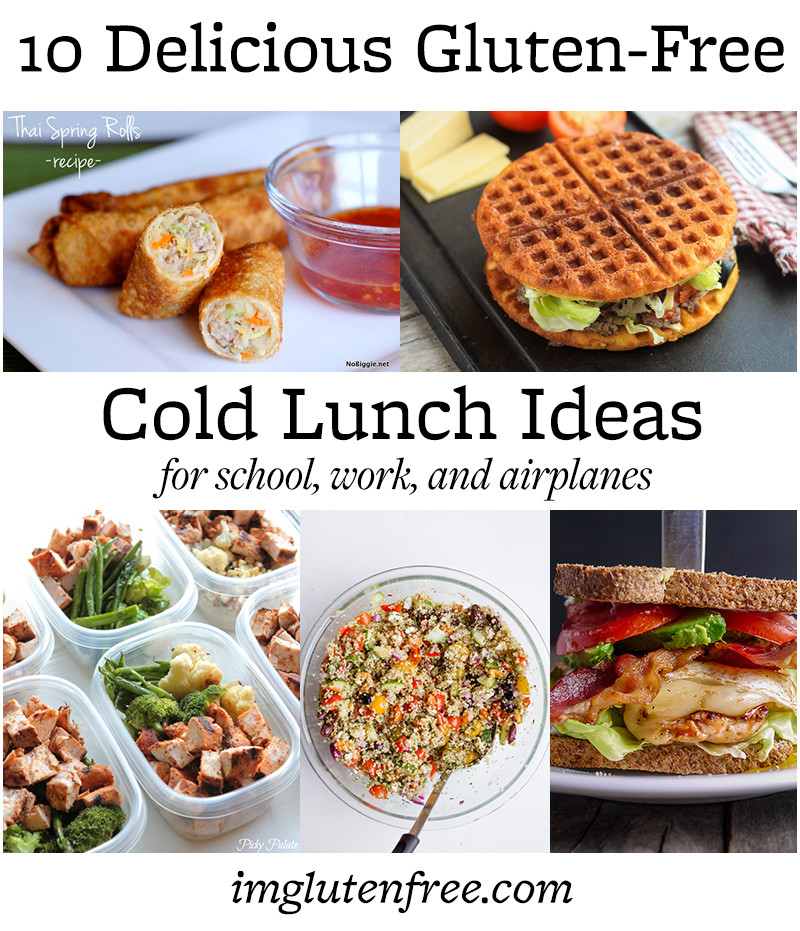 Recipe Roundup- 10 Gluten Free Cold Lunch Ideas