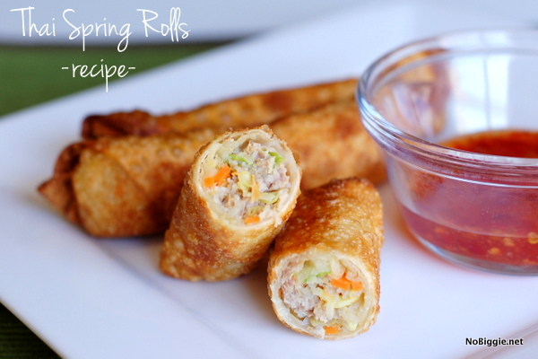 Thai Spring Rolls| Gluten free cold lunch ideas