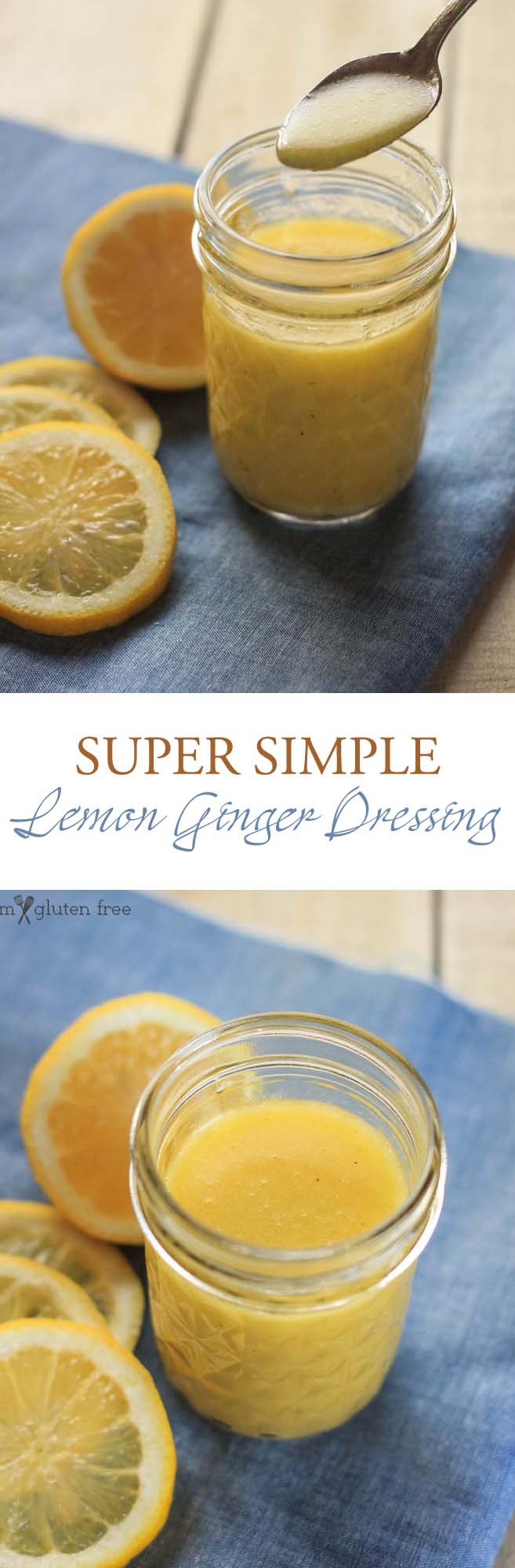 Gluten free and super simple lemon ginger salad dressing recipe!