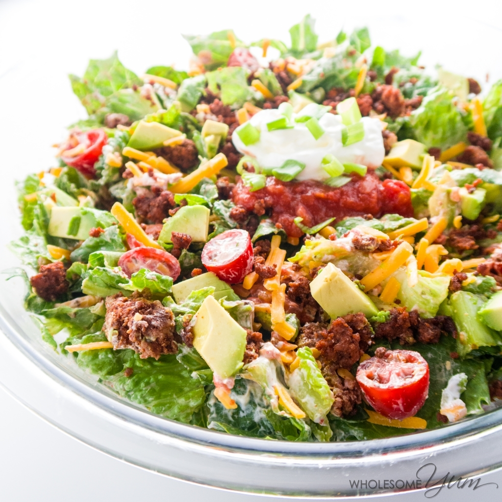 Gluten Free Easy College Recipes Roundup: Healthy Taco Salad