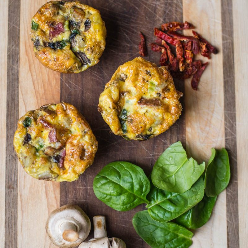 Super easy grab-n-go make ahead gluten free breakfast muffins! Spend just 2 minutes on breakfast in the morning!