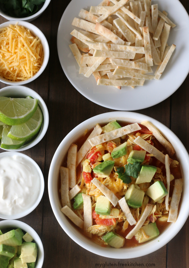 Gluten Free Easy College Recipes Roundup: 30 Minute Chicken Tortilla Soup