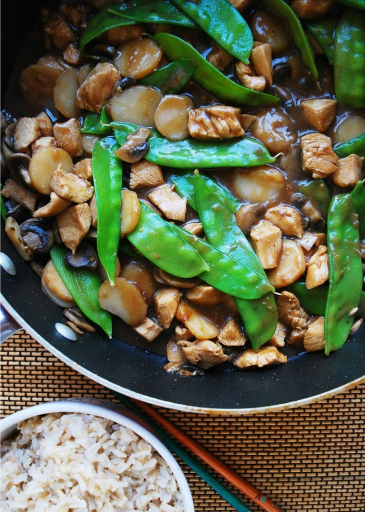 Gluten Free Easy College Recipes Roundup: 30 Minute Moo Goo Gai