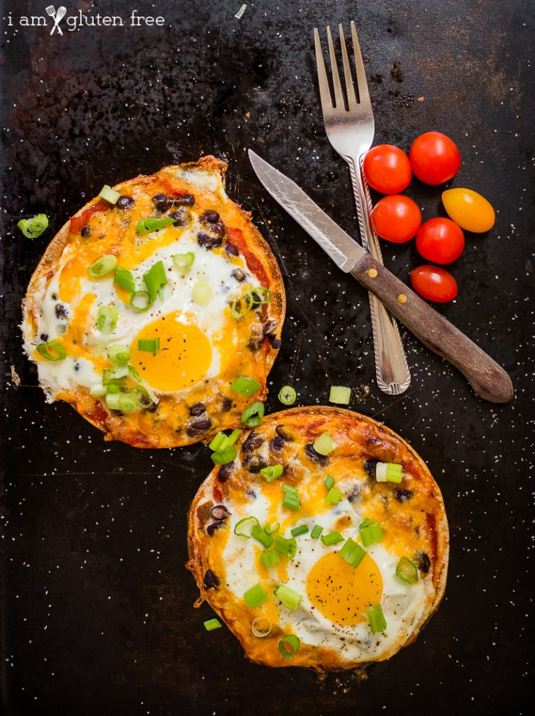 Gluten free huevos rancheros. A quick and easy breakfast or lunch!