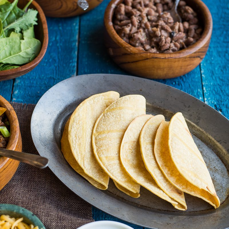 These easy gluten free tacos make for a great buffet party with friends and family!